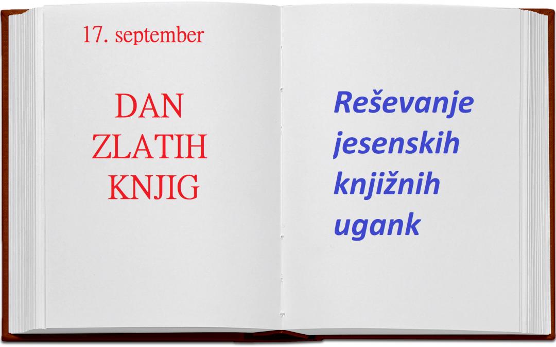 17. september je dan zlatih knjig